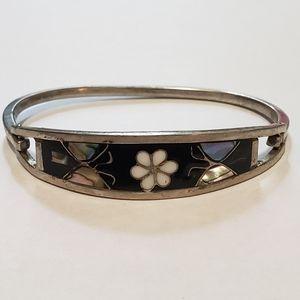 3/$25 Vintage Silver Flower Bracelet